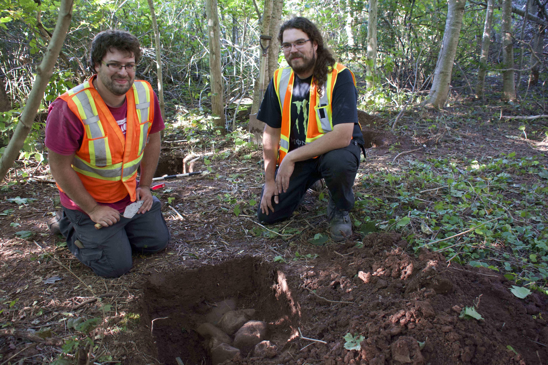 archeologues geoparc vestige perce