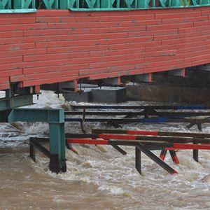 pont inondation
